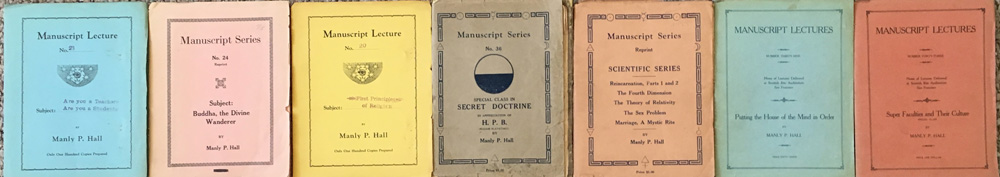 strip of manuscript lectures